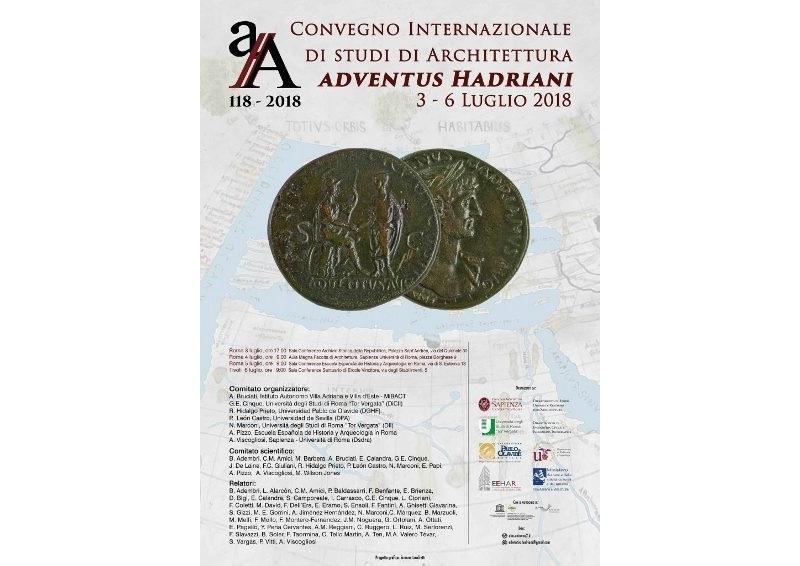 Adventus hadriani convegno internazionale di studi di for Studi di architettura roma